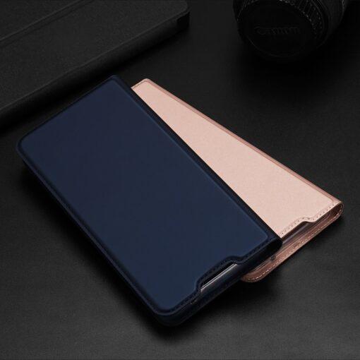 Samsung A72 kunstnahast kaaned kaarditaskuga DUX DUCIS Skin Pro sinine 9