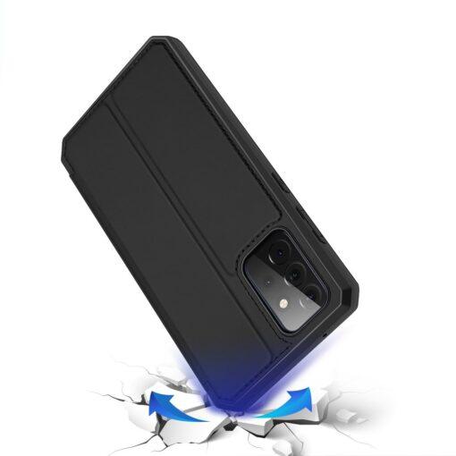 Samsung A72 kunstnahast kaaned kaarditaskuga DUX DUCIS Skin X must 2