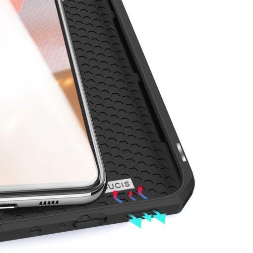 Samsung A72 kunstnahast kaaned kaarditaskuga DUX DUCIS Skin X must 6