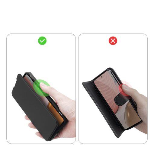 Samsung A72 kunstnahast kaaned kaarditaskuga DUX DUCIS Skin X must 8