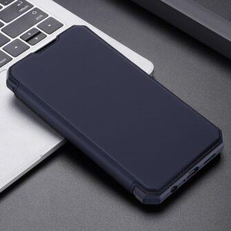 Samsung A72 kunstnahast kaaned kaarditaskuga DUX DUCIS Skin X sinine 12