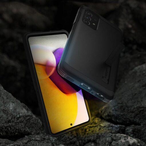Samsung A72 umbris Galaxy Spigen Tough Armor must 2