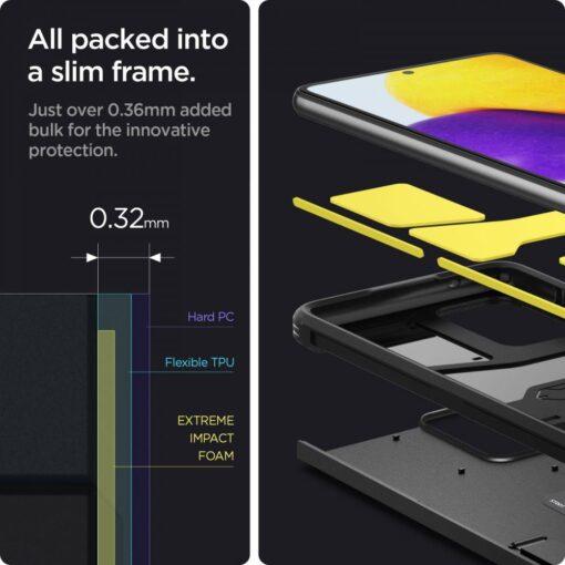 Samsung A72 umbris Galaxy Spigen Tough Armor must 3