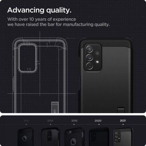 Samsung A72 umbris Galaxy Spigen Tough Armor must 4