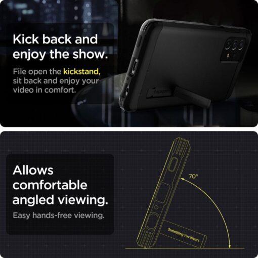 Samsung A72 umbris Galaxy Spigen Tough Armor must 6