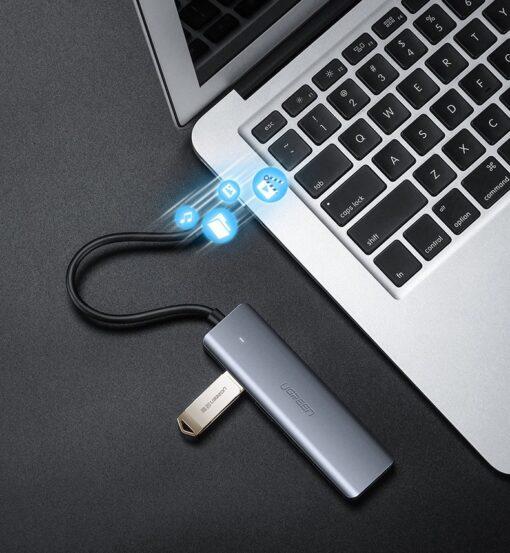 Ugreen USB C Hub jagaja 4x 3.2 USB power port CM219 70336 11