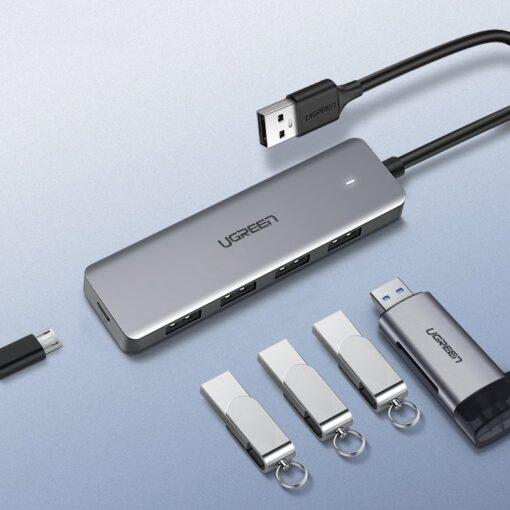 Ugreen USB C Hub jagaja 4x 3.2 USB power port CM219 70336 16