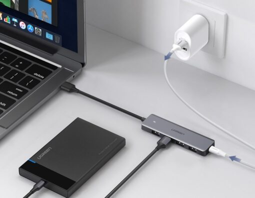 Ugreen USB C Hub jagaja 4x 3.2 USB power port CM219 70336 18