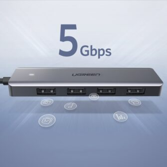 Ugreen USB C Hub jagaja 4x 3.2 USB power port CM219 70336 2