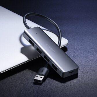 Ugreen USB C Hub jagaja 4x 3.2 USB power port CM219 70336 4
