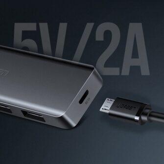 Ugreen USB C Hub jagaja 4x 3.2 USB power port CM219 70336 9