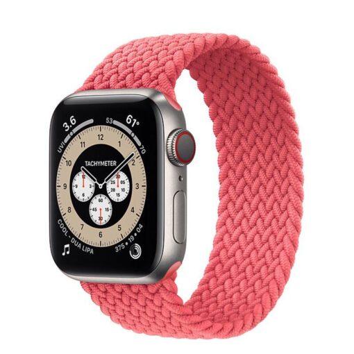 Apple Watch rihm nailon riidest roosa