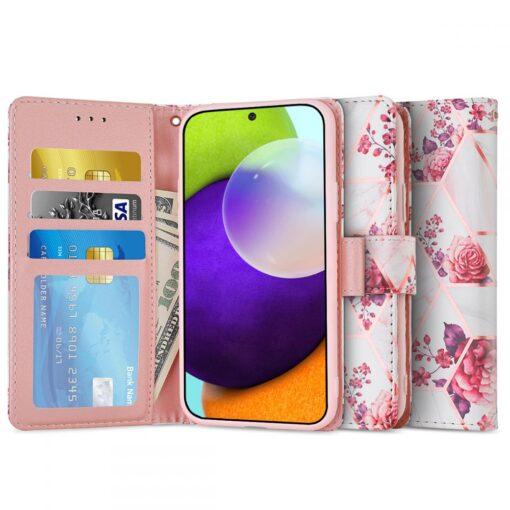 Samsung A52 4G ja 5G kaaned kaarditaskuga lilledega 3