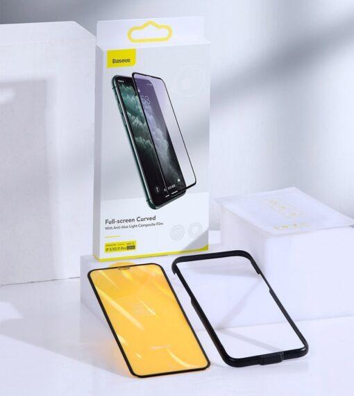 iPhone 11 Pro Max kaitseklaas 3D 0.25mm Anti blue 15