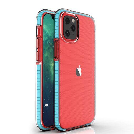 iPhone 12 12 Pro umbris silikoonist labipaistev raamiga helesinine