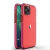 iPhone 12 12 Pro umbris silikoonist labipaistev raamiga tumeroosa