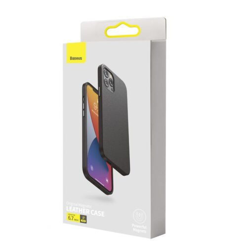 iPhone 12 Pro Max Baseus kunstnahast umbris Magsafe 4