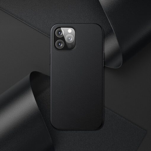 iPhone 12 Pro Max Baseus kunstnahast umbris Magsafe 8