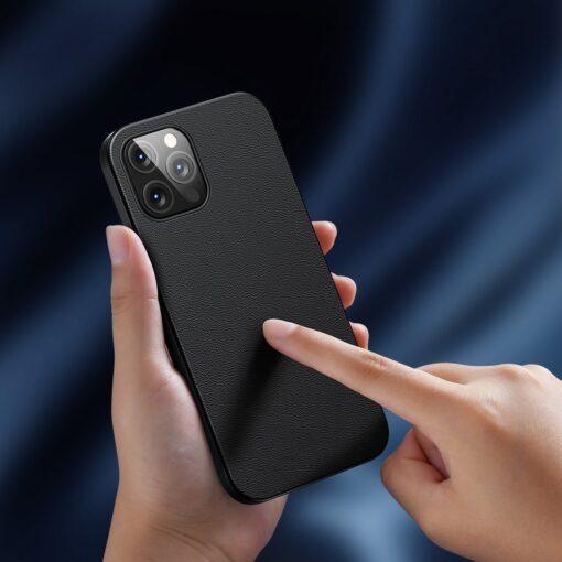 iPhone 12 Pro Max Baseus kunstnahast umbris Magsafe 9