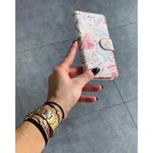 iPhone 12 Pro kaaned kaarditaskuga roosa marble 2