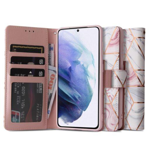 iPhone 12 Pro kaaned kaarditaskuga roosa marble 6