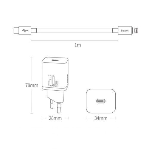 iPhone 12 laadija koos seinadapteriga Baseus Super SI 1 4