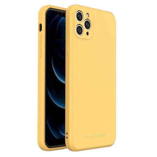 iPhone 11 Pro Max pehmest silikoonist umbris kollane