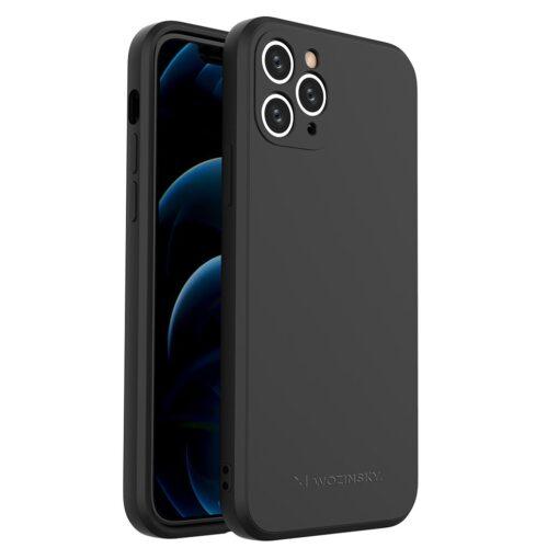 iPhone 11 Pro pehmest silikoonist umbris must