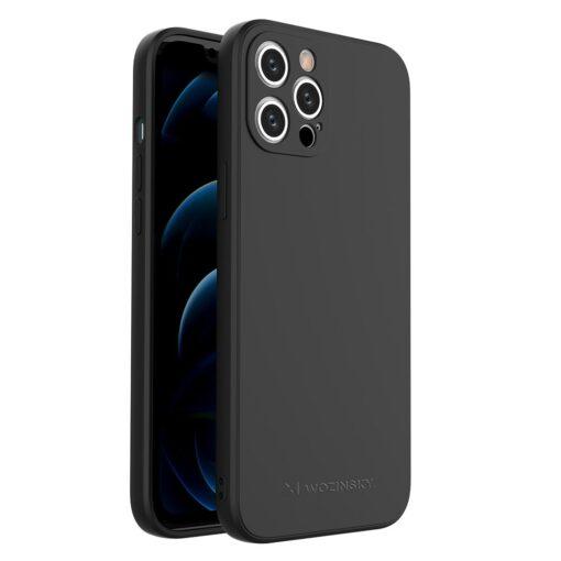 iPhone 12 Pro Max pehmest silikoonist umbris must