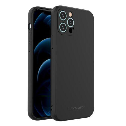 iPhone 12 Pro pehmest silikoonist umbris must