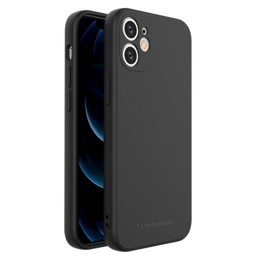 iPhone 12 mini pehmest silikoonist umbris must