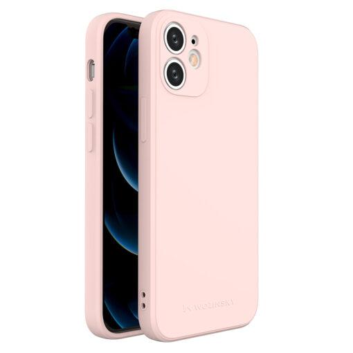 iPhone 12 mini pehmest silikoonist umbris roosa