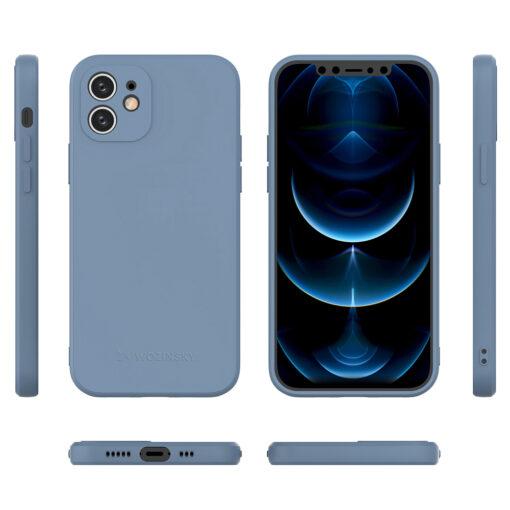 iPhone 12 pehmest silikoonist umbris sinine 1