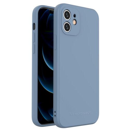 iPhone 12 pehmest silikoonist umbris sinine