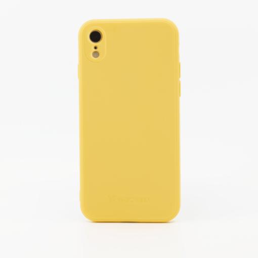 kollane silikoonist umbris iPhone XR