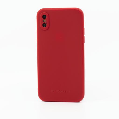 punane silikoonist umbris iPhone XS