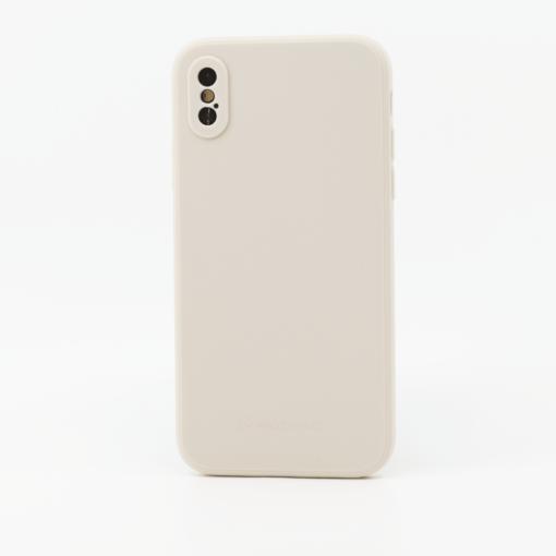 valge silikoonist umbris iPhone XS iPhone X