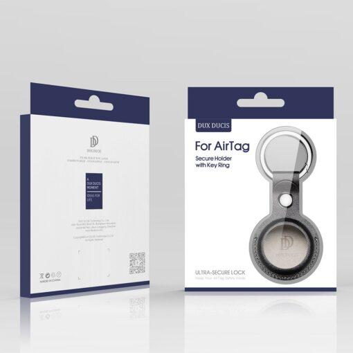 Apple AirTag kunstnahast votmehoidja Dux Ducis must 4
