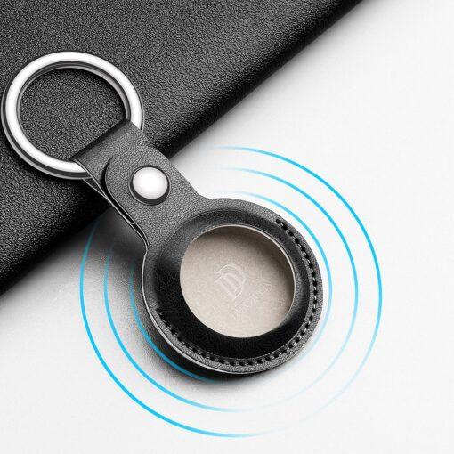 Apple AirTag kunstnahast votmehoidja Dux Ducis sinine 10