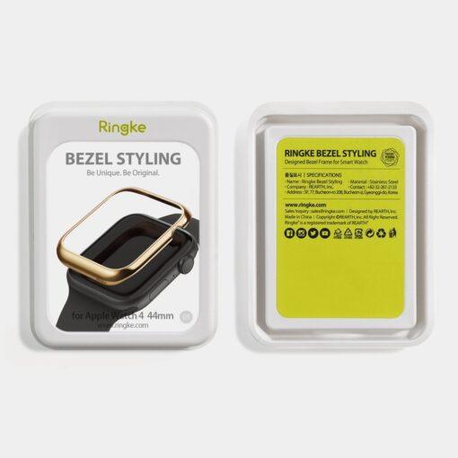 Apple Watch kaitseraam Ringke Bezel Styling kuldne Watch 6 40mm Watch 5 40mm Watch 4 40mm Watch SE 40mm 4