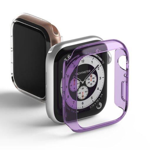 Apple Watch umbris Ringke Slim 2tk Watch 6 40mm Watch 5 40mm Watch 4 40mm Watch SE 40mm labipaistev lilla 1