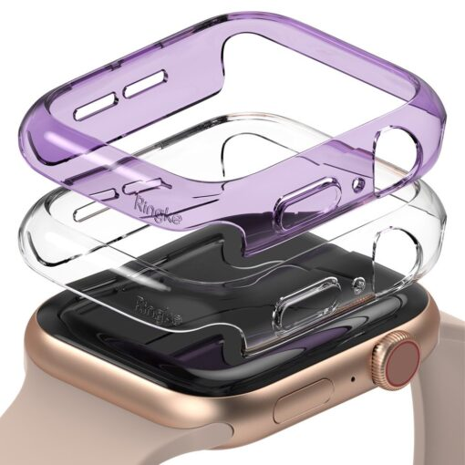 Apple Watch umbris Ringke Slim 2tk Watch 6 40mm Watch 5 40mm Watch 4 40mm Watch SE 40mm labipaistev lilla