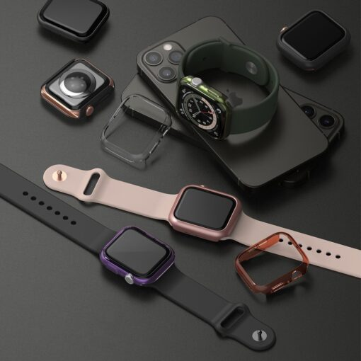 Apple Watch umbris Ringke Slim 2tk Watch 6 40mm Watch 5 40mm Watch 4 40mm Watch SE 40mm labipaistev lilla 6