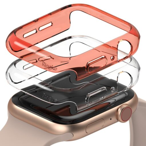 Apple Watch umbris Ringke Slim 2tk Watch 6 40mm Watch 5 40mm Watch 4 40mm Watch SE 40mm labipaistev oranz
