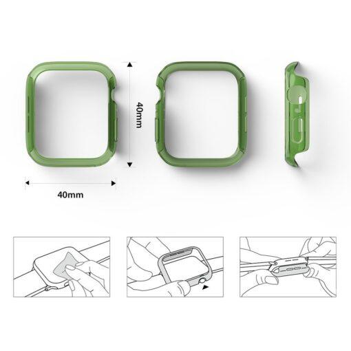 Apple Watch umbris Ringke Slim 2tk Watch 6 40mm Watch 5 40mm Watch 4 40mm Watch SE 40mm labipaistev roheline 2