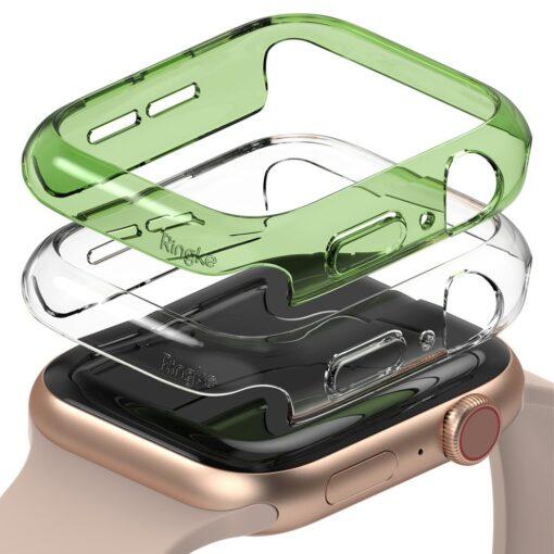 Apple Watch umbris Ringke Slim 2tk Watch 6 40mm Watch 5 40mm Watch 4 40mm Watch SE 40mm labipaistev roheline