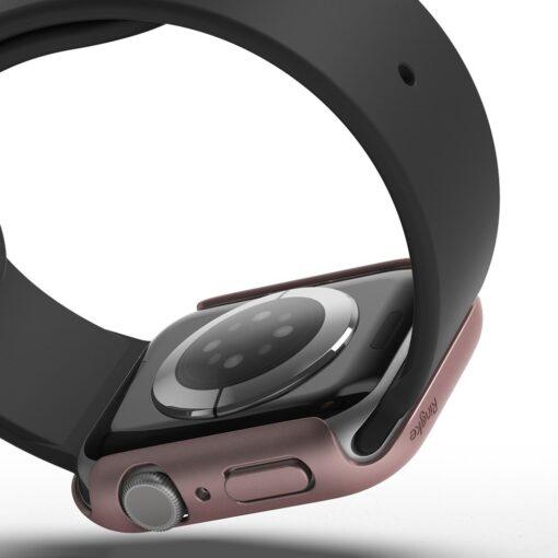 Apple Watch umbris Ringke Slim 2tk Watch 6 40mm Watch 5 40mm Watch 4 40mm Watch SE 40mm labipaistev roosa 1
