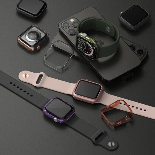 Apple Watch umbris Ringke Slim 2tk Watch 6 40mm Watch 5 40mm Watch 4 40mm Watch SE 40mm labipaistev roosa 5