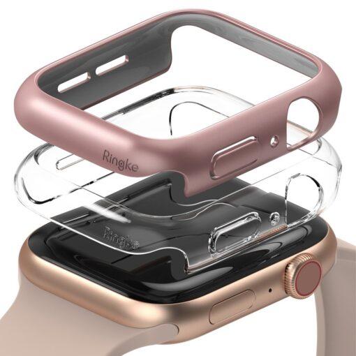 Apple Watch umbris Ringke Slim 2tk Watch 6 40mm Watch 5 40mm Watch 4 40mm Watch SE 40mm labipaistev roosa