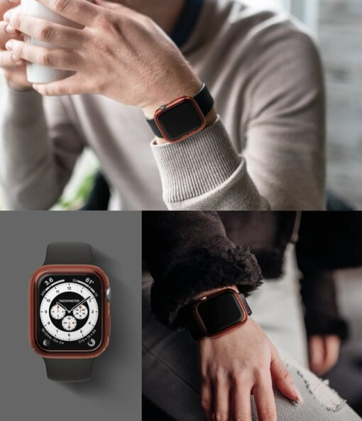Apple Watch umbris Ringke Slim 2tk Watch 6 40mm Watch 5 40mm Watch 4 40mm Watch SE 40mm labipaistev roosa 8